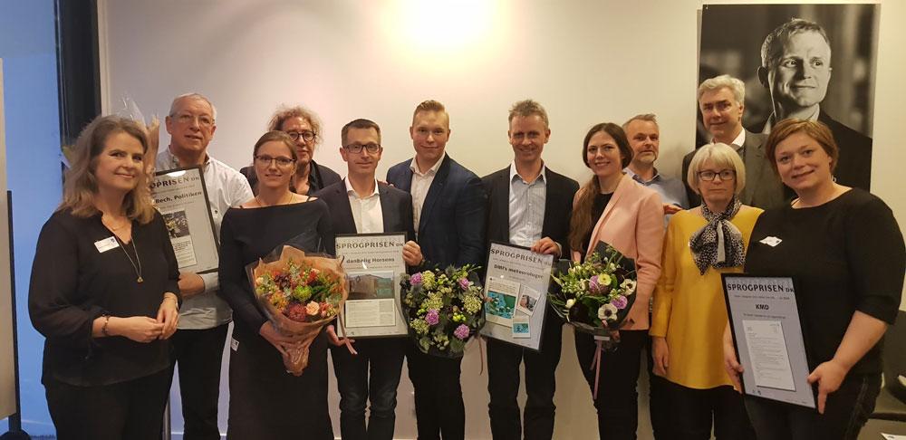 Vinderne af Sprogprisen.dk 2018
