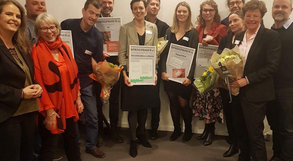 Vinderne af Sprogprisen.dk 2019