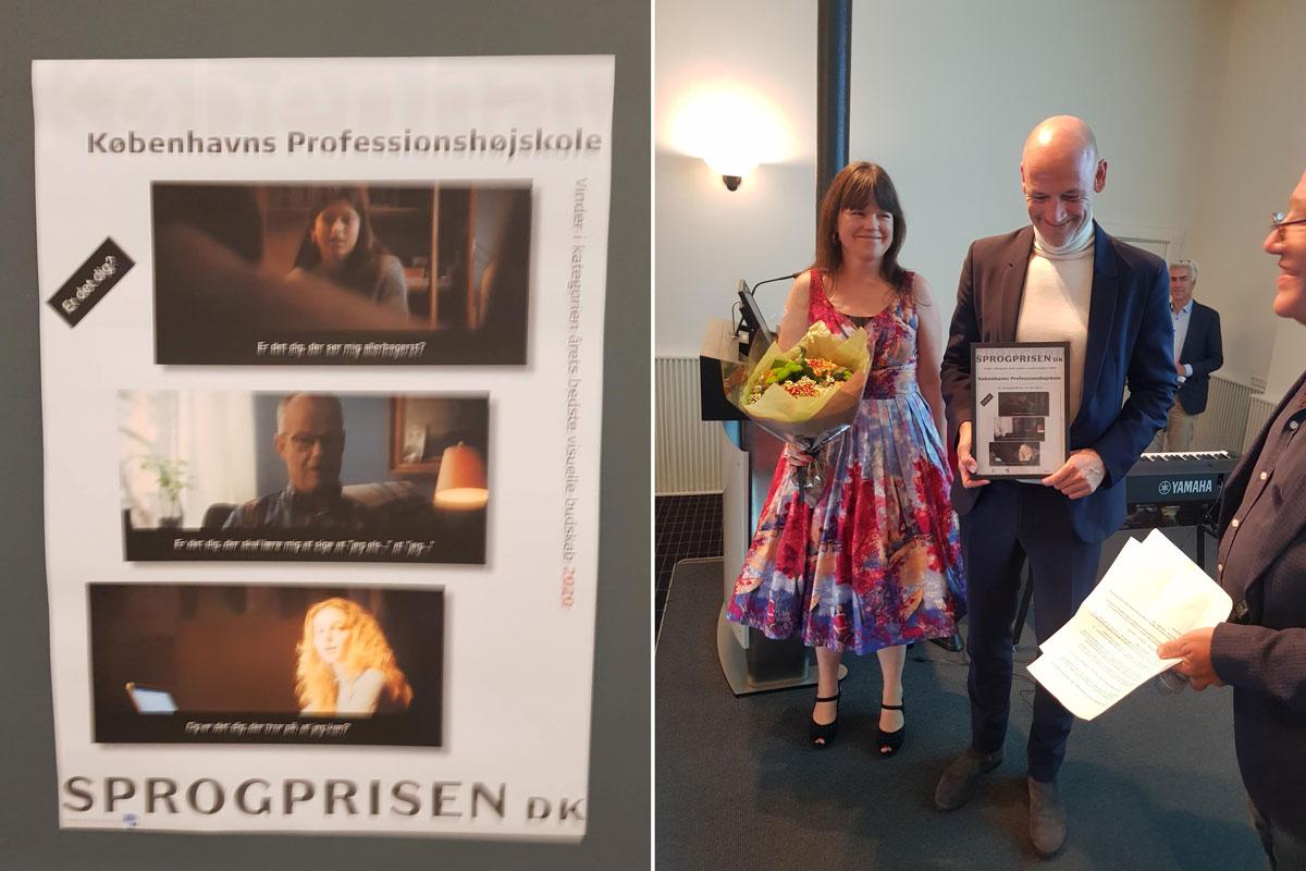 Københavns Professionshøjskole vinder sprogprisen 2020 for bedste visuelle budskab