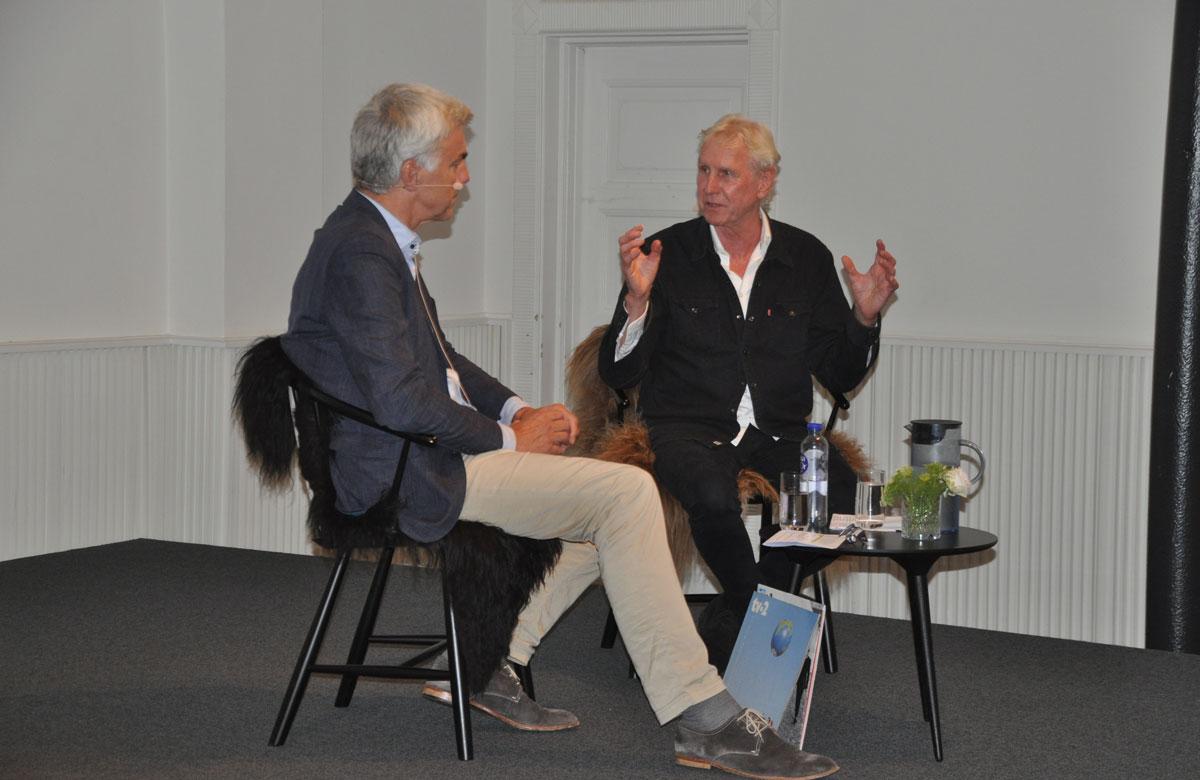 Kurt Strand interviewer Steffen Brandt, TV2, om musik og sprog ved Sprogdagen 20